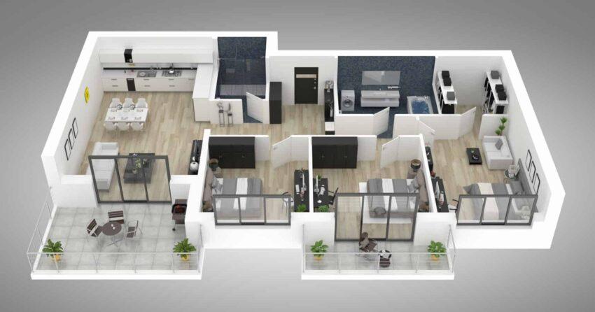vermietet. Black Bedroom Furniture Sets. Home Design Ideas